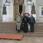 На паперти Челябинского кафедрального собора.