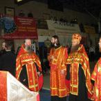Молебен преподобному Александру Пересвету перед началом Первенства