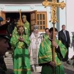 """Патриарх обратился со словами приветствия к курсантам и услышал в ответ звонкое """"Здравия желаем, Ваше Святейшество!"""""""